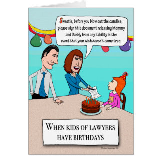 Lustige Eltern sind Rechtsanwalt-Geburtstag Karte