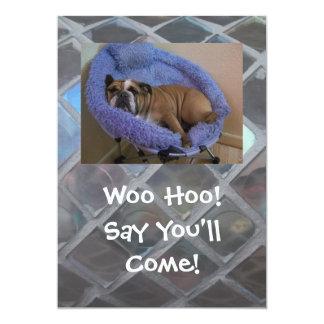 Lustige englische Bulldoggen-Party Einladungen, 12,7 X 17,8 Cm Einladungskarte