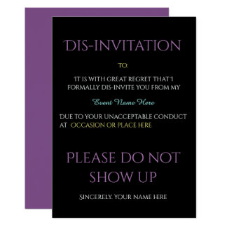 Lustige Ereignis DIS-Einladung Karte