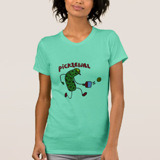 Lustige Essiggurke, die Pickleball Aktions-Entwurf T-Shirt