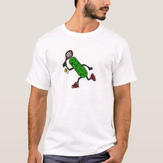 Lustige Essiggurke, die Tennis-Kunst spielt T-Shirt