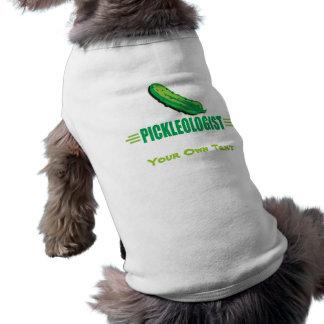 Lustige Essiggurken Ärmelfreies Hunde-Shirt