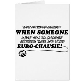 lustige EURO-CHAUSIE Entwürfe Karte