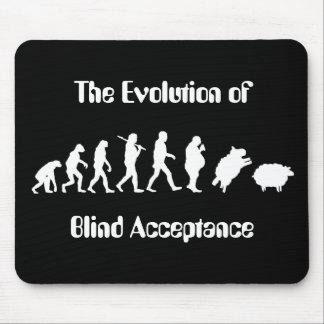 Lustige Evolution der Mann-Parodie Mousepads