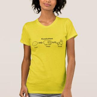 Lustige Evolution der Wolke in Schafe und in Pudel T-Shirt