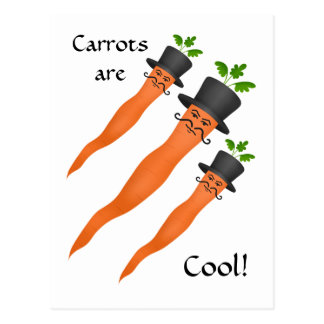Lustige extravagante coole Karotten Postkarte