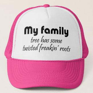 Lustige Familie zitiert Truckerkappe
