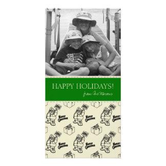 Lustige Familien-Foto-Weihnachtskarten Fotokarte