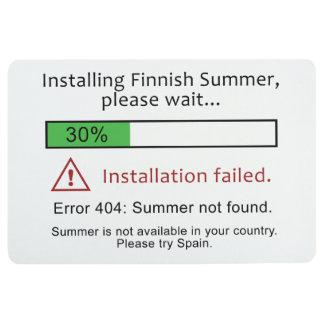 Lustige finnische Sommerbodenmatte Bodenmatte