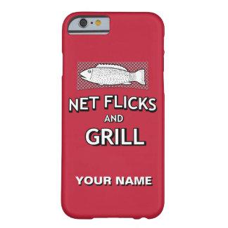 Lustige Fischen-Form-Netz-Fisch-Witz-Parodie Barely There iPhone 6 Hülle