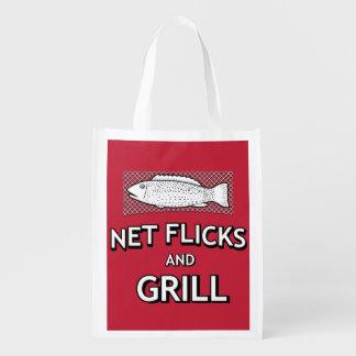Lustige Fischen-Form-Netz-Fisch-Witz-Parodie Wiederverwendbare Einkaufstasche