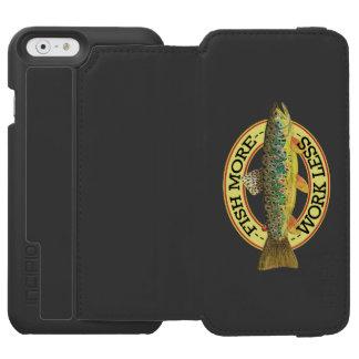 Lustige Fischen-Wörter für einen Fischer Incipio Watson™ iPhone 6 Geldbörsen Hülle