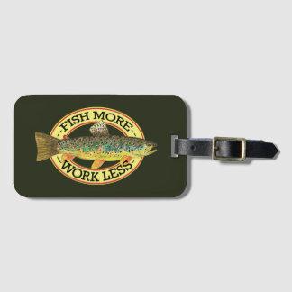 Lustige Fischen-Wörter für einen Fischer Kofferanhänger