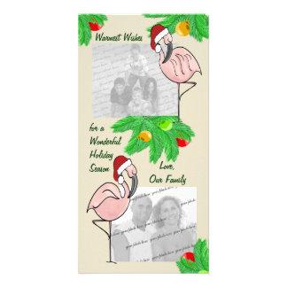 Lustige Flamingo-Fotogrußkarte Individuelle Foto Karten
