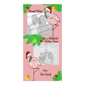 Lustige Flamingo-Fotogrußkarte Foto Karten Vorlage