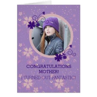 Lustige Fotogeschenk-Grußkarte der Mutter Tages Karte