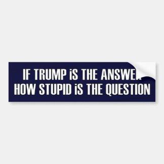 Lustige Frage für Trumpf GOP-Republikaner Autoaufkleber