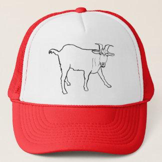 Lustige fragende Ziege, die Tierkunst-Entwurf Truckerkappe