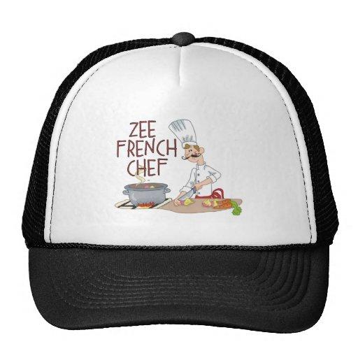 Lustige französische Kochs-Geschenke Baseballkappen