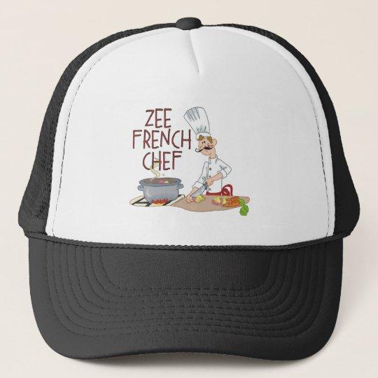 Lustige französische Kochs-Geschenke Truckerkappe