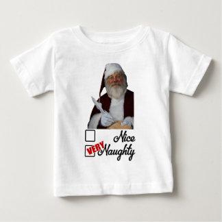 Lustige freche Liste Sankt für Kinder Baby T-shirt