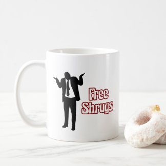 Lustige freie Shrugs-Kaffee-Tasse Kaffeetasse