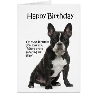 Lustige Frenchie Geburtstags-Karte