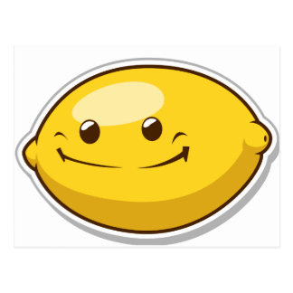 Lustige Frucht mit Ausdruck - Zitrone Postkarte