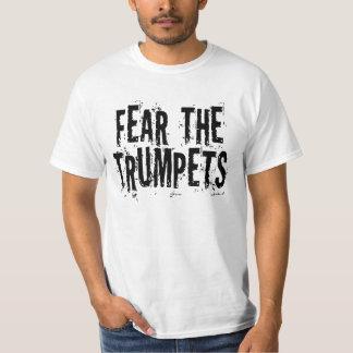 Lustige Furcht das Trompete-Geschenk T-Shirt