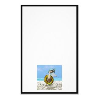 Lustige Gans am Strand Personalisiertes Druckpapier