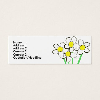 Lustige Gänseblümchen-Visitenkarte Mini Visitenkarte