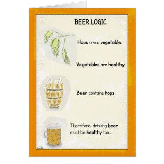 Lustige Geburtstags-Cartoon-Karte: Bier-Logik Karte