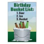 Lustige Geburtstags-Karte für Mann - Biereimerlist