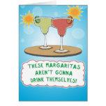 Lustige Geburtstags-Karte: Margaritas