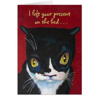 Lustige Geburtstags-Karte von der Katze Karte