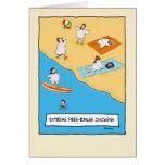 Lustige Geburtstagskarte: Frei-Strecke Hühner Grußkarten