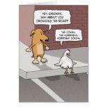 Lustige Geburtstagskarte: Hund und Huhn Karte