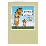 Lustige Geburtstagskarte: Kleines Pferd
