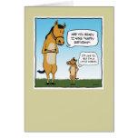 Lustige Geburtstagskarte: Kleines Pferd Grußkarte