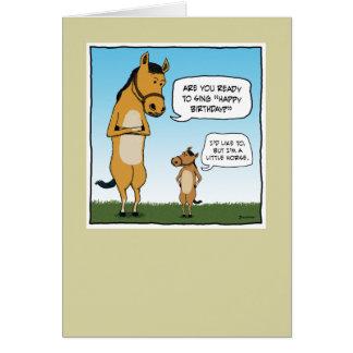 Lustige Geburtstagskarte: Kleines Pferd Karte