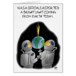 Lustige Geburtstagskarten: Die NASA-Beamte Karte