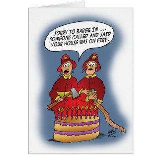 Lustige Geburtstagskarten: Feuersignal Karte