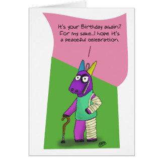 Lustige Geburtstagskarten: Pinata-Missbrauch Karte