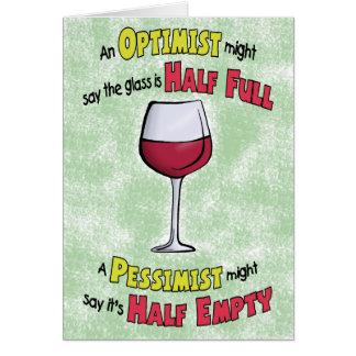 Lustige Geburtstagskarten: Wein-Philosophie Grußkarte