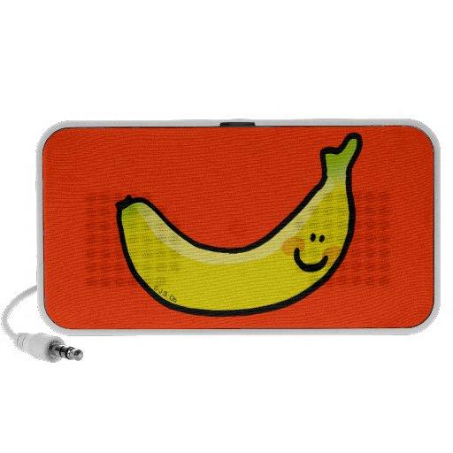 Lustige gelbe Banane Notebook Speaker