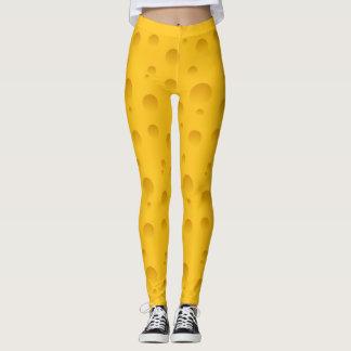 Lustige gelbe Musterdruckgamaschen des Schweizer Leggings