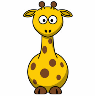 Lustige gepunktete Cartoon-Giraffen-Kinder Fotostatue