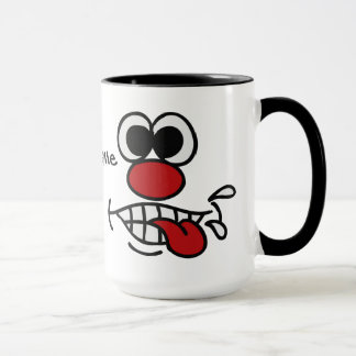 Lustige Gesichtsgewohnheits-Tassen Tasse