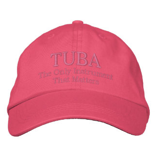 Lustige gestickte Tuba-Musik-Kappe Baseballmütze