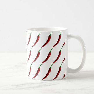Lustige gestreifte heiße Chili-Paprikaschoten Kaffeetasse